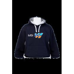 Sudadera capucha azul MSI